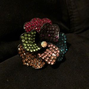 Jewelry - Black Rainbow Flower Ring